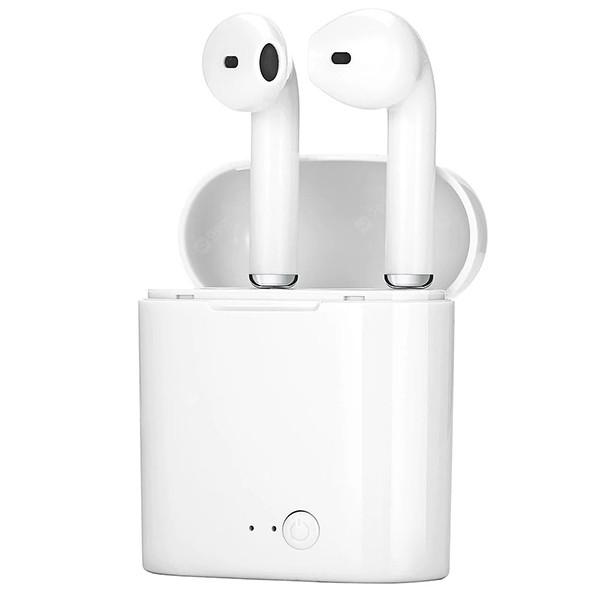 Słuchawki Bluetooth TWS i7 z Mini PowerBank Biały